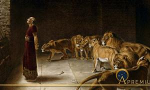 Daniel in the Lions' Den by Thomas Agnew and Sons, (1892) (Public Domain)