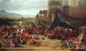 Sacking of Rome in 1527 by Johannes Lingelbach (17th century) 14,000 mercenaries under George von Frundsberg joined the Duke of Bourbon and the Constable of France, Charles III, to lead them towards Rome.