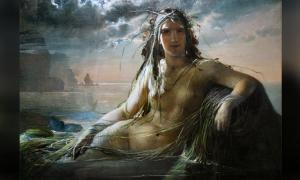 'Mermaid' (1873) by Elisabeth Jerichau-Baumann. Mermaid tales are popular inspirations for the arts around the world