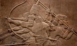 Mesopotamian relief of Assyrian warriors. Credit: kmiragaya / Adobe Stock