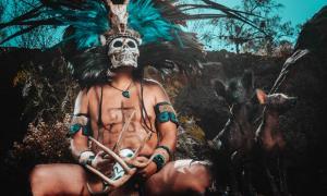 Aztec god of the underworld Mictlantecuhtli