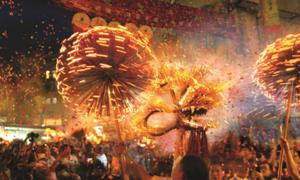 The Tai Hang fire dragon dance is performed in Hong Kong during the Mid-Autumn Festival. Source: Hong Kong Tourism Board.