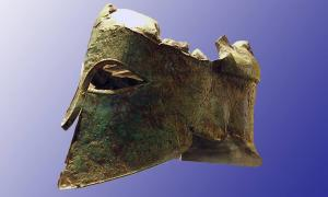 Helmet of the ancient Greek warrior Miltiades the Younger
