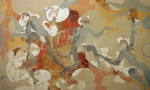 Minoan Monkey art in Akrotiri, Greece. Source: ZDE / CC BY-SA 3.0
