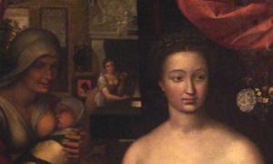 François Clouet - Dame au bain (Portrait of Diane de Poitiers)