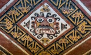 Moche Decapitator mural at Huaca de la Luna