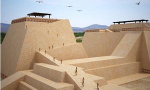 The Mochican tomb complex of Huaca Rajada in Peru