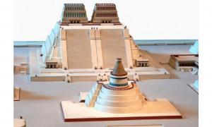 Model of the Templo Mayor of Tenochtitlan