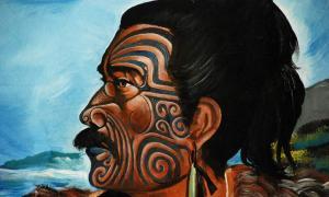 A Māori warrior.