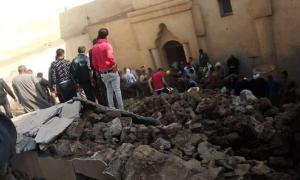 Rescuers found three dead and several injured at the ancient monastery collapse in Egypt. Source: Youssef Sidhom.