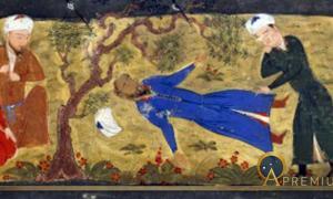 Death of Muhammad II of Khwarezm. From Jami' al-tawarikh by Rashid-al-Din Hamadani. (Public Domain)