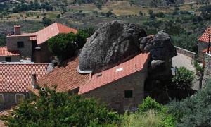 Inbuilt rock house of Monsanto, Portugal.