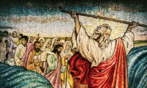 Moses crossing the Red Sea. Source: Davy Cheng / Adobe Stock.