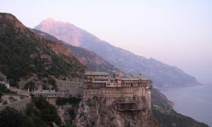 One of the 40 monasteries on the Holy Mount Athos.