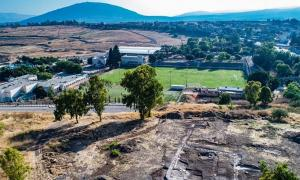 Aerial view of 1,300-year-old church in the village of Kfar Kama, near the Mount of Transfiguration (Mount Tabor), Israel. Source: Alex Wiegmann, Israel Antiquities Authority