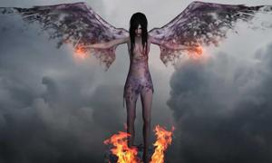 A demon or dark angel.