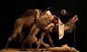 The Lion Attacking a Dromedary diorama.