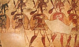 Mycenaean Greeks in the Egyptian military of Ramesses