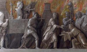 Detail of 'The Introduction of the Cult of Cybele at Rome' (1505-1506) by Andrea Mantegna.