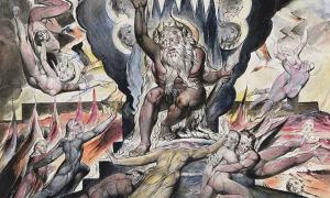 """Illustrations to Dante's """"Divine Comedy"""" - """"Minos"""" by William Blake."""