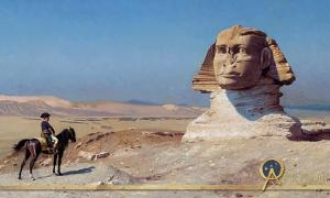 Napoleon Bonaparte before the Sphinx, (circa 1868) by Jean-Léon Gérôme, Hearst Castle.