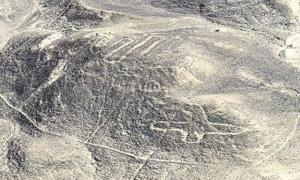 Nazca geoglyphs exposed by the wind