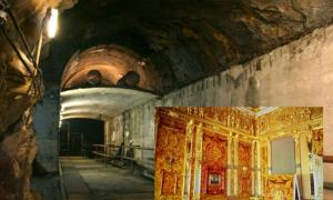 "An underground tunnel, part of Nazi Germany ""Riese"" construction project under the Ksiaz castle in Poland"