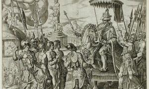 The three Jews brought before Nebuchadnezzar (1565), Philip Galle