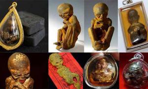 Kuman Thong amulets.