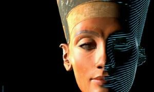 3D scan of bust of Nefertiti. Source: CosmoWenman / CC BY-NC-SA 4.0.