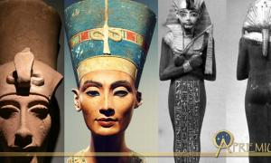 Collection of Egyptian Busts and Shabtis, design by Anand Balaji