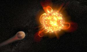 Superflares From Young Red Dwarf Stars Imperil Planets. The Nemesis star may be a dim Red Dwarf star.