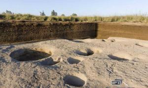 Remains of silos in Neolithic Egyptian village discovered in Tell el-Samara.