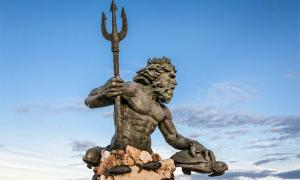 One of the many statues of Neptune, Roman god of fresh and sea water and more.    Source: eurobanks / Adobe Stock