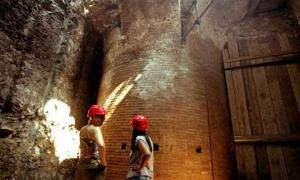 Dining room in Emperor Nero's luxurious palace