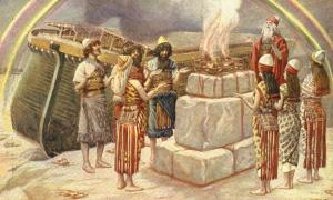 Noah's Sacrifice - watercolor circa 1896–1902 by James Tissot