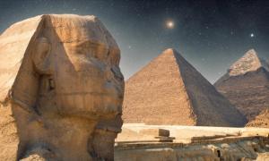 Pole starts used to align the pyramids at Giza.          Source: Aliaksei / Adobe Stock