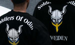 Soldiers of Odin in Stockholm 2016.