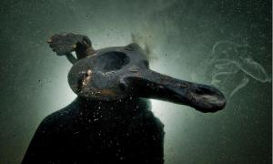 Oil lamp discovered in the submerged ruins of Thonis-Heracleion, Alexandria, Egypt (Cristoph Gerigk)