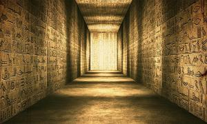 The Old Kingdom, or more appropriately the 'Age of the Pyramids', was the first period the ancient Egyptians announced themselves as a colossal civilization. Pictured: ancient Egyptian corridor with hieroglyphs on the wall.       Source: boscorelli / Adobe stock