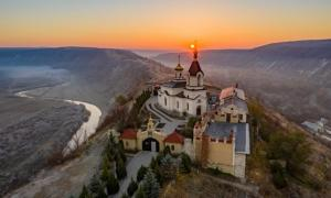 Sunrise, Old Orhei monastery, Republic of Moldova   Source: Calin Stan/Adobe Stock