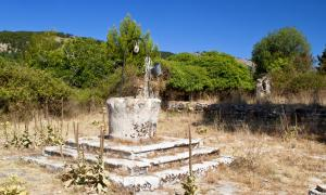 Old well at Monopolata village of Kefalonia island in Greece.