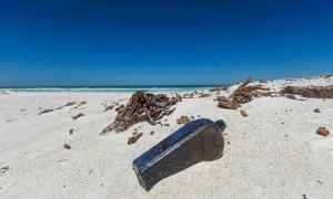 The oldest known message in a bottle was found on a beach north of Wedge Island in Ausatralia.