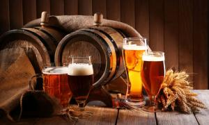 Beer brewing in ancient England.