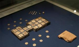 The oldest board game in the world, the Royal Game of Ur.   Source: Shriram Rajagopalan / CC BY 2.0