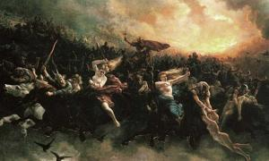 Åsgårdsreien (The Wild Hunt) by Peter Nicolai Arbo (1872).