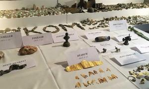 Some of the artifacts recovered from smugglers in Turkey.