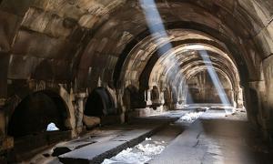 Interior of Orbelian's Caravanserai.