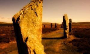 The Ring of Brodgar (or Brogar, or Ring o' Brodgar) is a Neolithic henge and megalithic circle on the Mainland, the largest island in Orkney, Scotland.