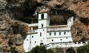 Ostrog Monastery in the rocks, Montenegro              Source: flu4022 / Adobe Stock